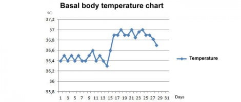 Basal body temperature and pregnancy