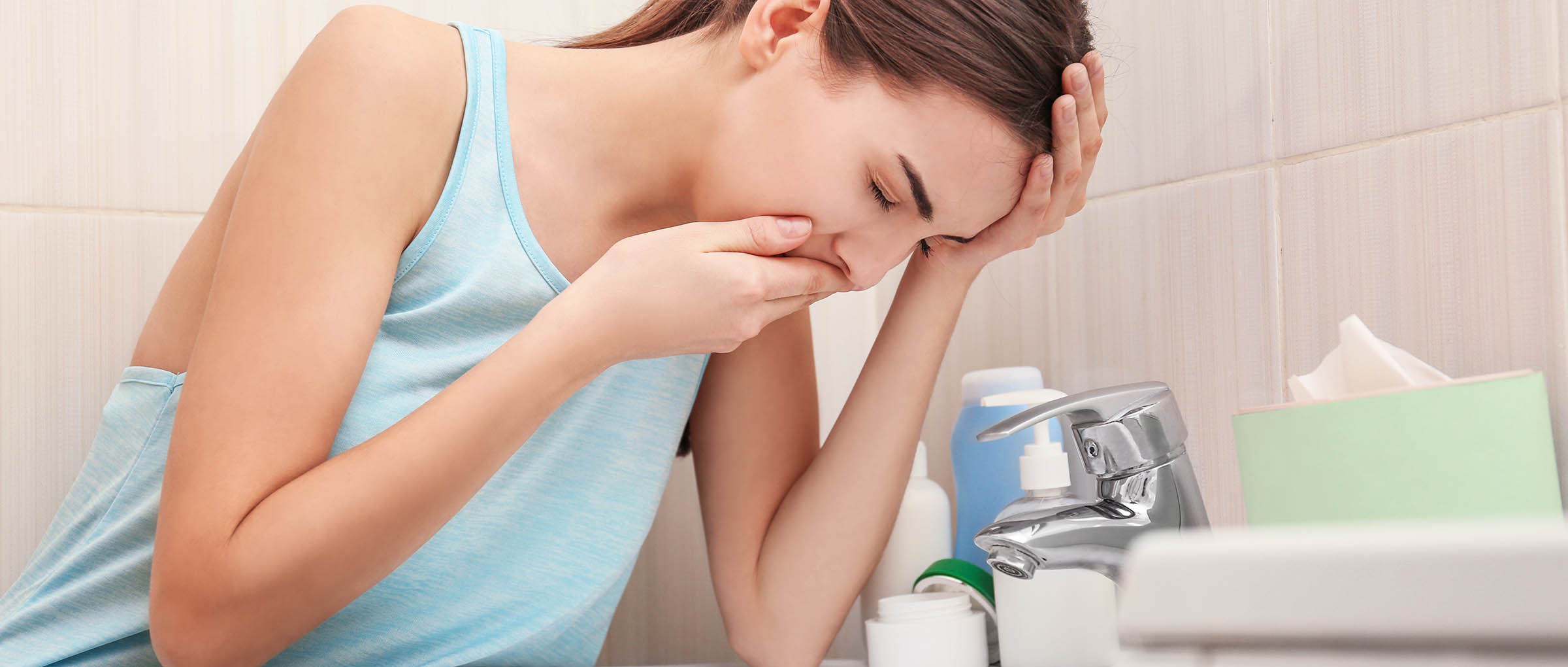 Nausea after eating and food aversions during early pregnancy