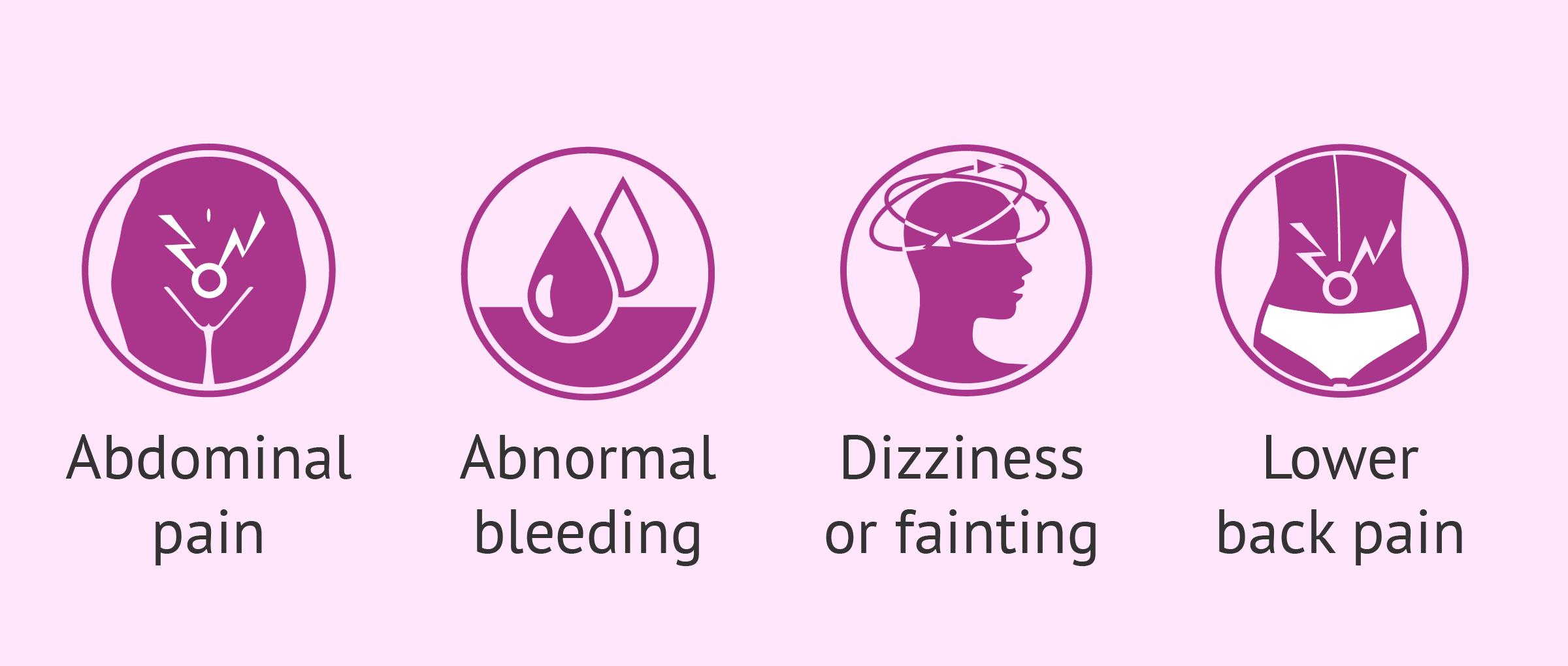 Symptoms of ectopic pregnancy