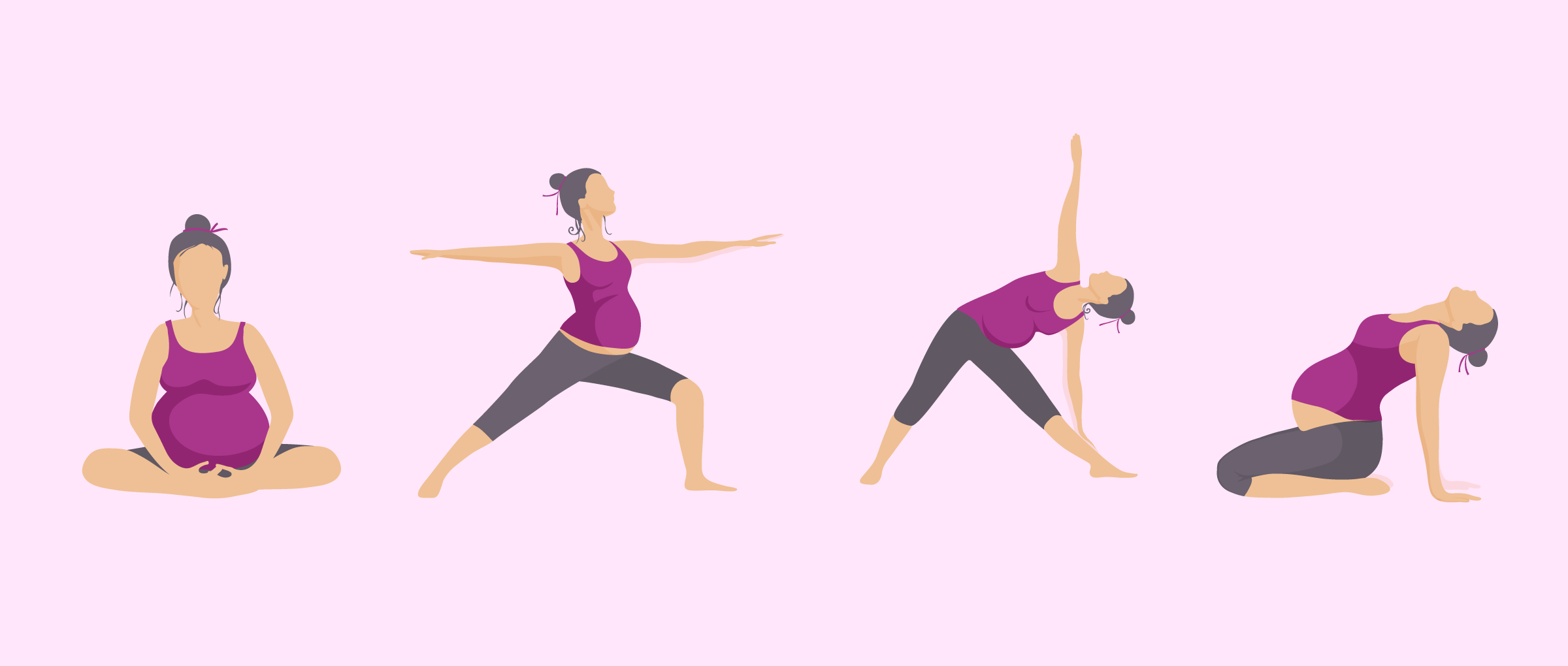 Spine stretches for pregnant women