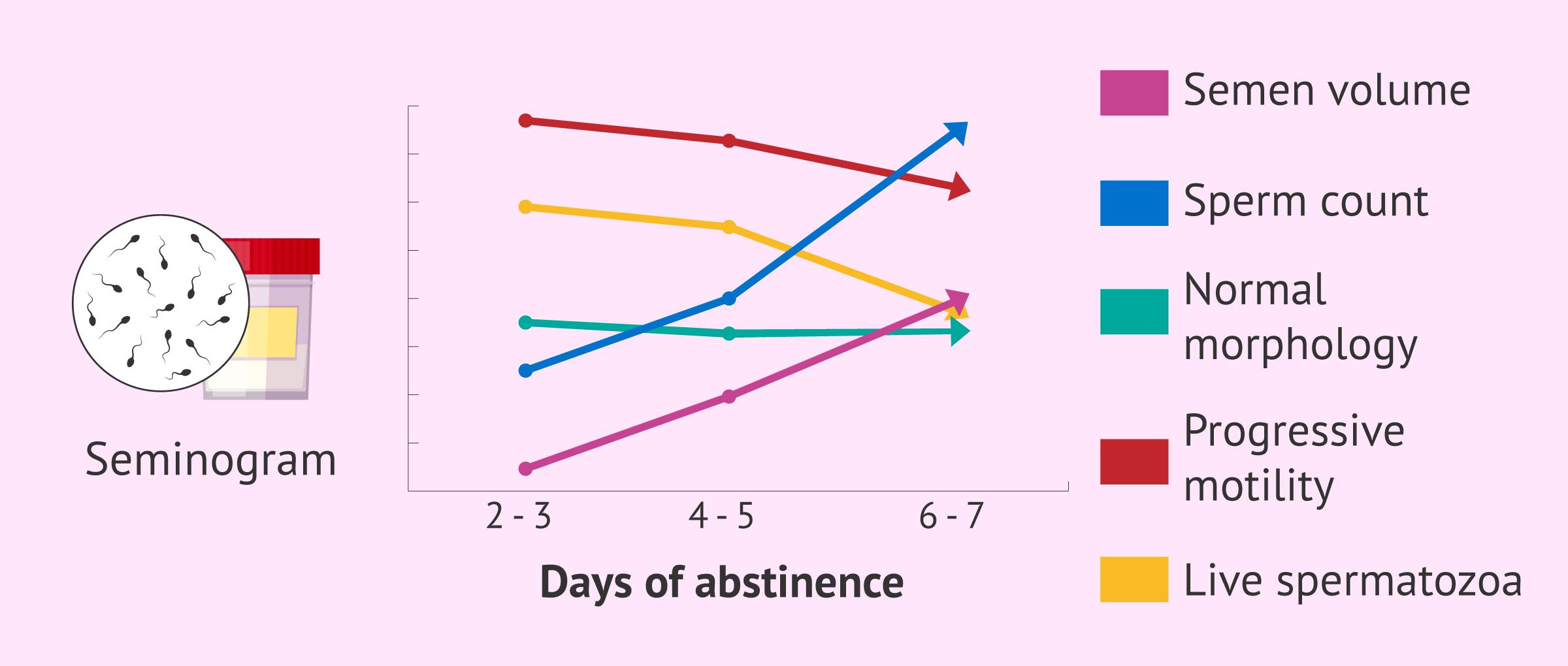 How do days of abstinence affect semen quality?