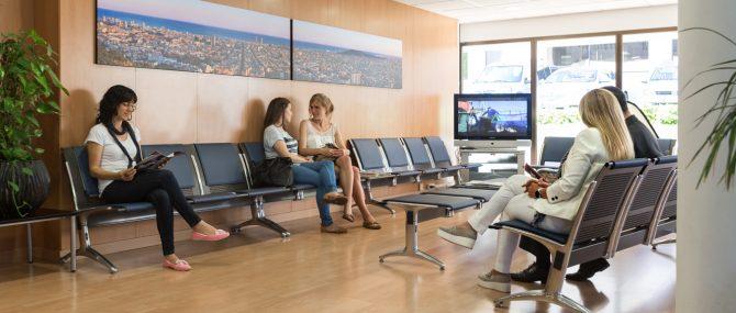 Barcelona IVF waiting area facilities