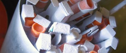 Frozen semen samples