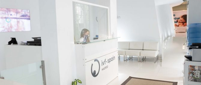 Imagen: Waiting Room and Reception at IVF Madrid