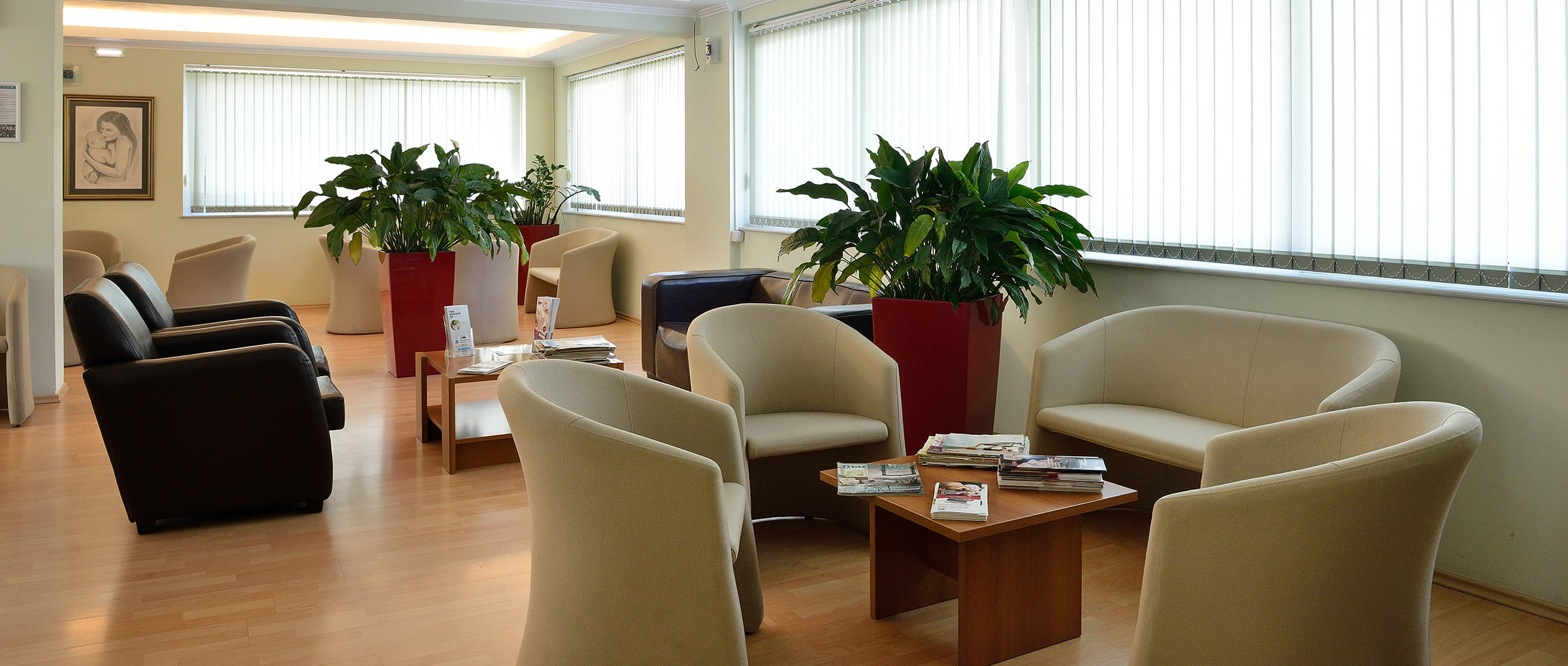 Mediterranean Fertility Center waiting area