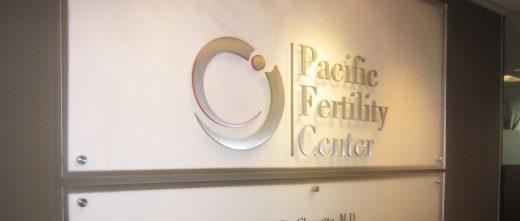 Pacfici Fertility Center Wall Sign
