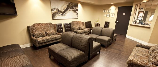 The Fertility Center of Las Vegas reception and waiting area
