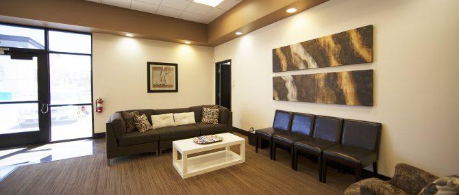 The Fertility Center of Las Vegas waiting area