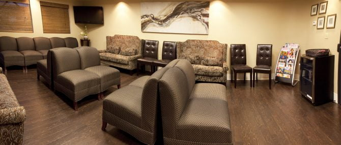 The Fertility Center of Las Vegas waiting room