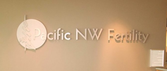 Pacific NW Fertility Waiting Room Sign