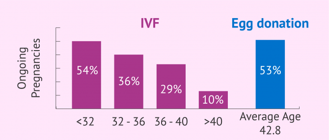 Success rates of IVF with own eggs vs. donor eggs
