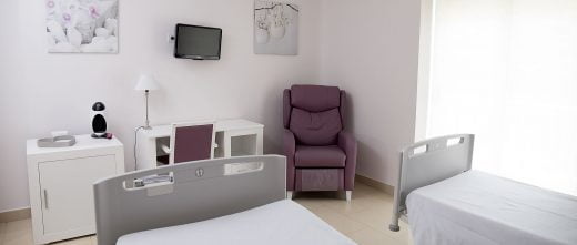 Unidad Phi Fertility Center facilities rooms