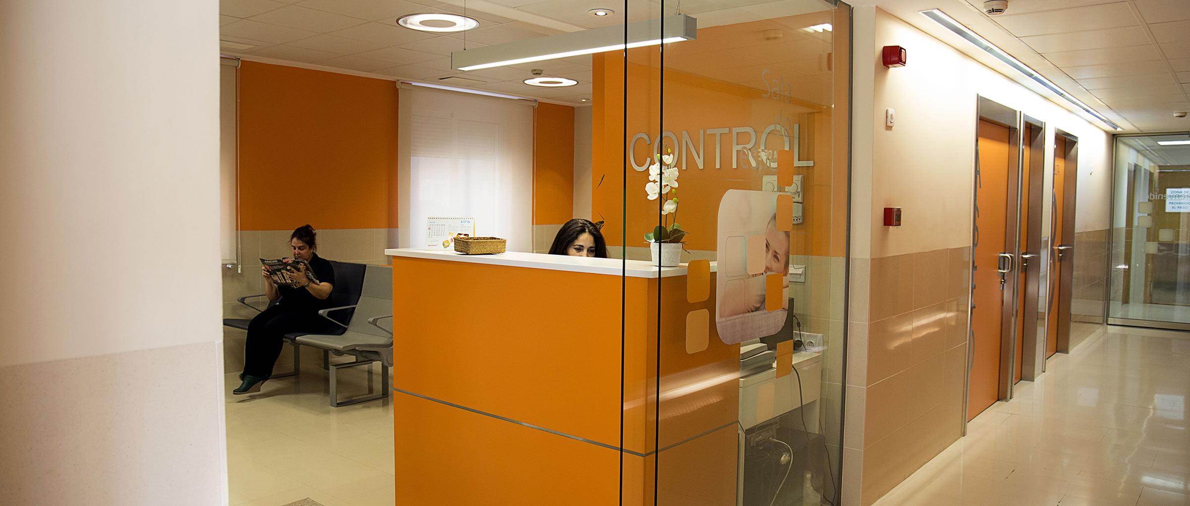 Unidad Phi Fertility Center reception