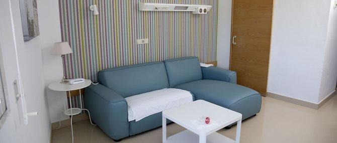Unidad Phi Fertility Center waiting room