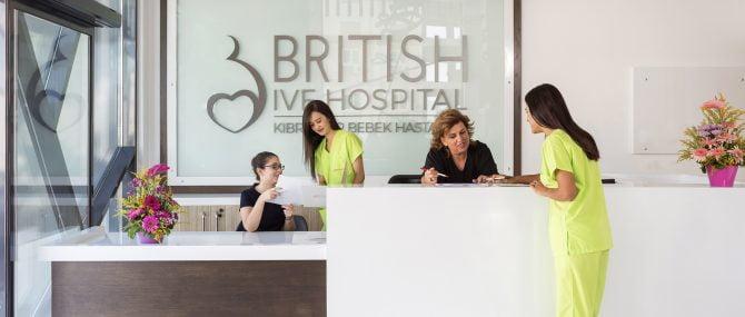 British Cyprus IVF Hospital reception