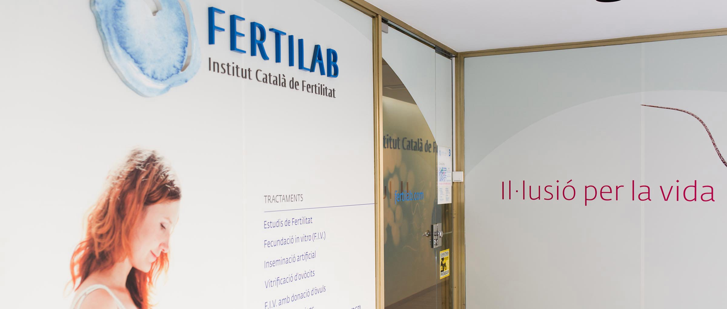 Fertilab entrance to the clinic