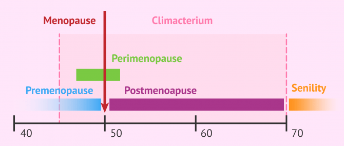 The different stages of menopause