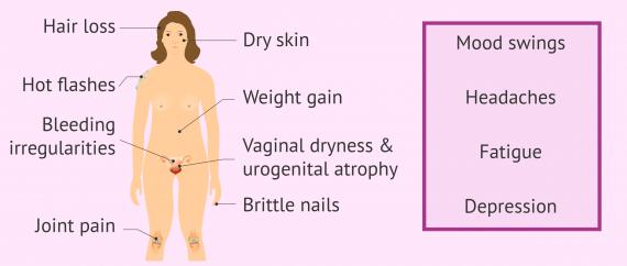 12 common symptoms of menopause