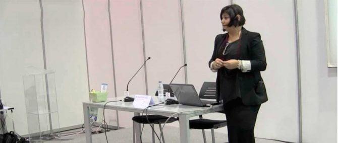 Imagen: Intervention of Dr Ana María Segura