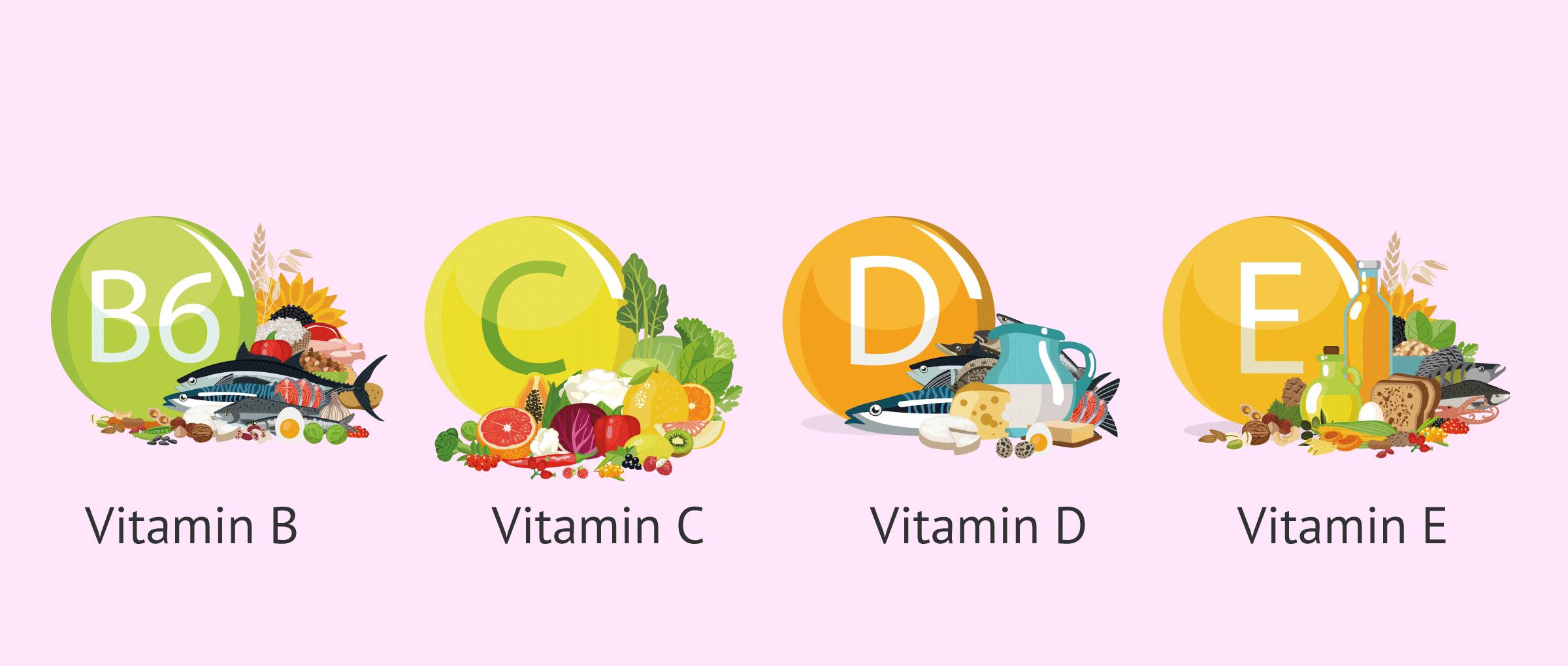 Imagen: Foods rich in vitamins that help favor fertility