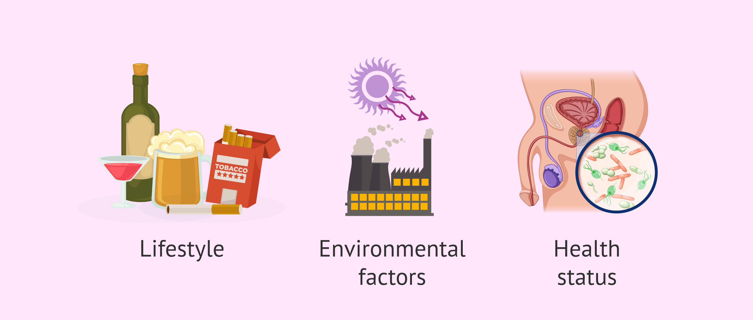 Causes of oxidative stress in semen