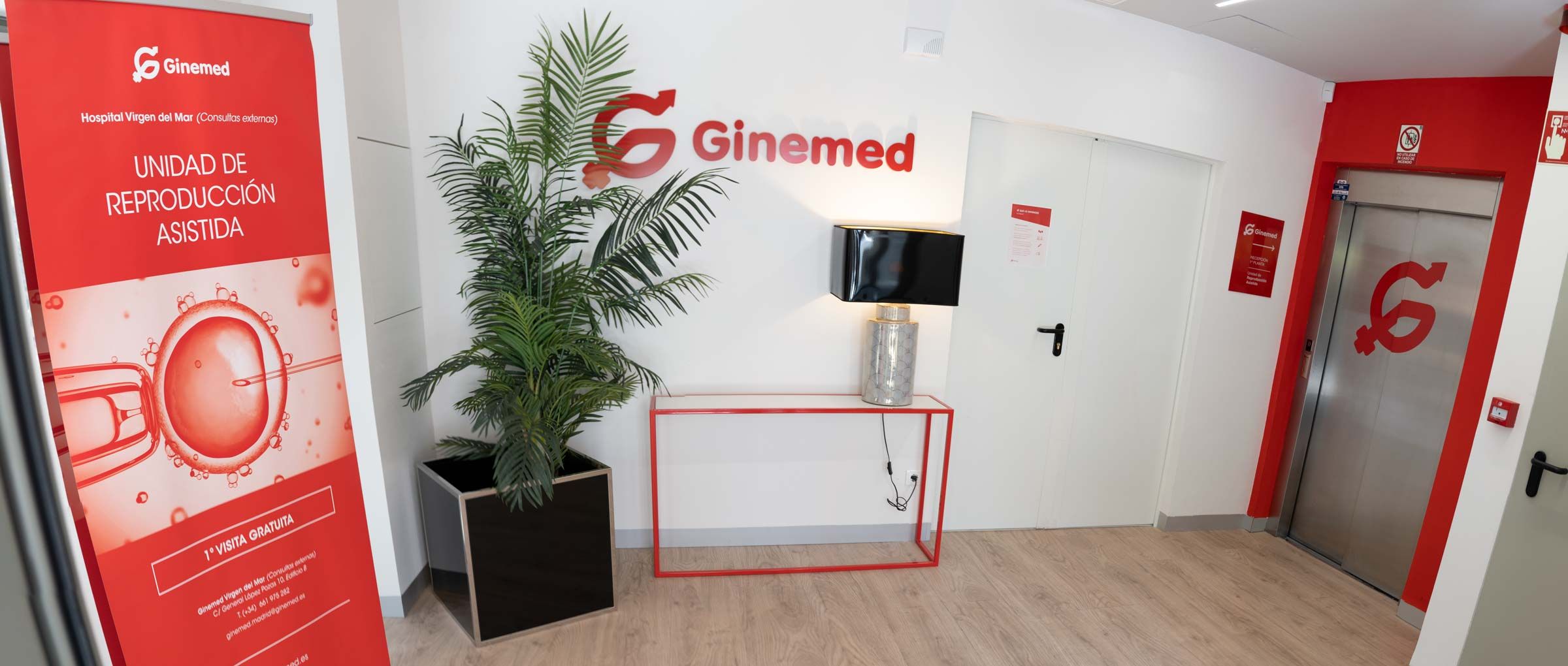 Entrance to Ginemed Madrid Center