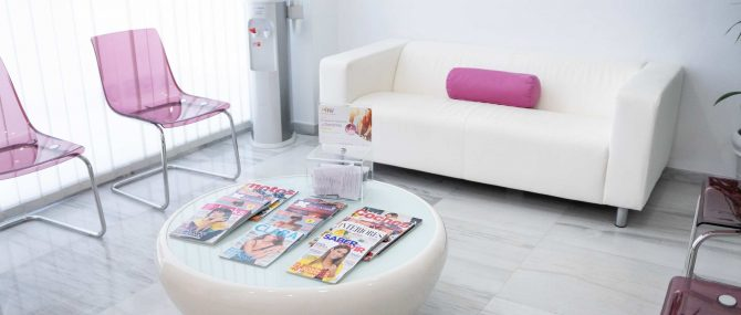 Imagen: Waiting room for egg donors at Ovoclinic Marbella